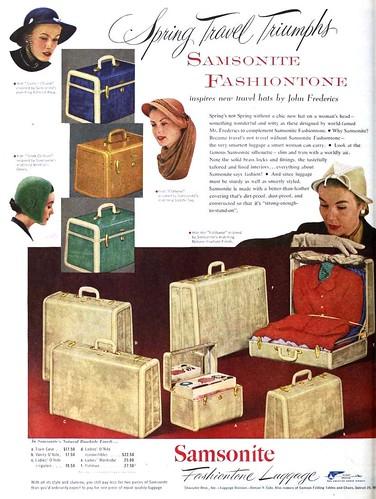 ad advertisement 1950s 1951 vintagead samsonite samsoniteluggage 1950sad suitcaseset suitcasead vision:text=0732 vision:outdoor=0758 samsonitefashiontoneluggage samsonitead