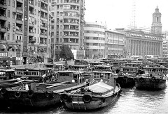 Suzhou Creek Shanghai 1996 (Bruce in Beijing) Tags: china shanghai transport 1996 canals barges suzhoucreek