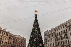 97th day of Russia (Joona Kotilainen) Tags: christmas decorations snow tree festive square large snowfall 120daysrussia