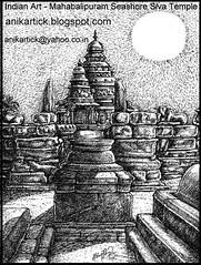 TEMPLES of TAMILNADU - FAMOUS TEMPLES in TAMILNADU - TEMPLE CITY of INDIA - FAMOUS TEMPLES in INDIA - Mahabalipuram Temple - Pen Drawing by Artist Anikartick,Chennai,India (Artist ANIKARTICK ( T.Subbulapuram VASU )) Tags: india art artist paintings drawings caves temples salem tirunelveli thanjavur chennai madurai vasu tamilnadu coimbatore cuddalore kanyakumari dindigul erode nilgiris kanchipuram karthikeyan vellore tiruvannamalai tirupur krishnatemple krishnagiri koil dharmapuri tiruchirapalli theni karur tiruvarur pudukkottai murugantemple ramanathapuram sivagangai maduraimeenakshiammantemple mahabalipuramtemple virudhunagar oviyangal templesoftamilnadu viluppuram tiruvallur thoothukudi tamilnadutemples perambalur sivantemple ariyalur anikartick famoustemples templesofchennai thiruchendurmurugantemple thanjaiperiyakoil oviyar koilkal nagapattinamnamakkal kovilkal kovilgal templesofmadurai meenatchiammankoil tanjorepragadeeswarartemple elephantradham chennaikoilkal templesofalldistrict