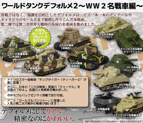 海洋堂 膠囊Q博物館  第二次世界大戰名戰車篇