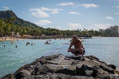 Waikiki Fisherman (davidgevert) Tags: hawaii fisherman waikiki d800 environmentalportrait gevert nikon2470 nikond800 davidgevert gevertphotography