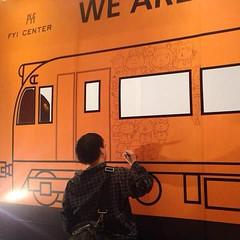 วาดรูป ( ´ ▽ ` )ノ บนรถไฟ :)