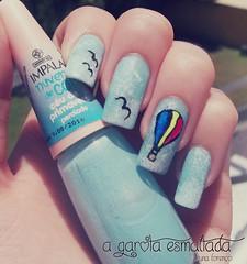 Nail Art: Balo de Ar Quente (A Garota Esmaltada) Tags: nails manicure nailpolish bruna unhas nailart esmaltes naildesign unhasdecoradas unhasartisticas agarotaesmaltada