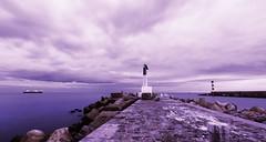 Les deux phares (Amanclos) Tags: longexposure lighthouse france night nuages aude nuit phare longueexposition portlanouvelle efs1022 canoneos700d