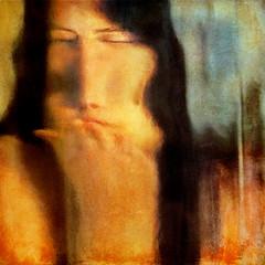 kisses I've blown (1crzqbn) Tags: portrait abstract color glass square model hand textures ♥ distortions hss 1crzqbn sliderssunday kissesiveblown