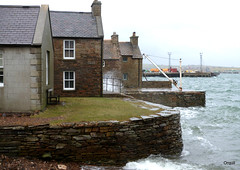 Another Stromness Wave Explosion (orquil) Tags: uk houses winter storm islands scotland seaside orkney waves waterfront harbour piers shoreline gale spray february oldhouses stromness scapaflow traditionalhouses waveexplosion
