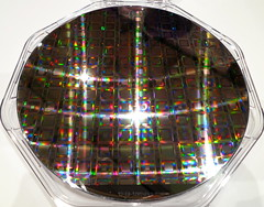 Hot off the press � the latest D-Wave wafer of quantum processors and TIME cover story