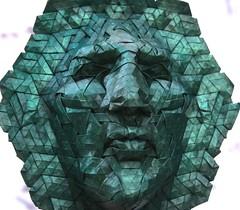 goliath 1 (origami joel) Tags: face paper origami mask joel cooper tessellation origamijoel