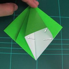 วิธีพับกระดาษเป็นจรวด X-WING สตาร์วอร์ (Origami X-WING) 012