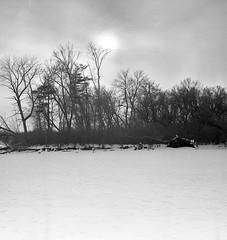 Winter scene Z_IKONTA_334 (erlin1) Tags: winter usa film analog mediumformat minneapolis february visible tmax400 mn 2014 zeisssuperikonta