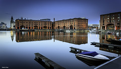 Albert dock liverpool (Shahid A Khan) Tags: old city uk travel blue light england sky urban reflection building brick heritage tourism nature skyline architecture port marina liverpool docks vintage buildings river canal office twilight dock construction europe european cityscape colours forsale waterfront photos britain united albert famous great stock victorian picture culture kingdom places landmark images structure basin quay historic warehouse photograph mooring shops destination symmetrical bluehour pillars citycentre mersey offices waterway quayside salthouse merseyside dockside shahidakhan albertdocs sakhanphotography wwwgalleryskcom