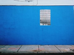Blue Wall and Window (AnthonyTulliani) Tags: street blue window wall minimal vsco iphoneography vscocam