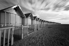 Beach Huts - Non HDR b&w (Dan Elms Photography) Tags: longexposure beach canon sigma huts beachhuts merseaisland sigma1020mm mersea ndfilter westmersea canon600d