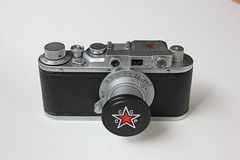 "Zorki Stalinets (Front view) Фед Сталинец [Зоркий] (dcsides) Tags: zorki type fed f35 c"" ""50mm i зоркий collapsible"" фед stalinets сталинец ""zorki"
