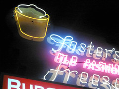 March 31: Foster Neon (earthdog) Tags: food sign word lumix neon sanjose panasonic icecream fakefood 2014 project365 dmczs19 panasonicdmczs19 3652014