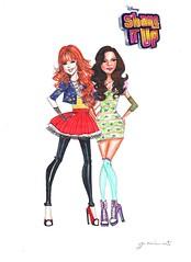 Shake it Up! (G-nuinart) Tags: art up fashion design artwork dress arte drawing rocky it disney fanart shake designs cece bella dibujo diseo serie thorne 2014 diseos zendaya