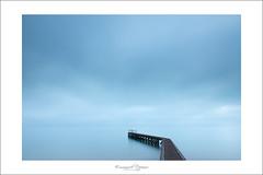 No where (Emmanuel DEPARIS) Tags: bridge sea beach pose nikon long exposure normandie normandy plage ponton d800 longue minimalisme emmanueldeparis