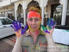 holi celebration (milena boeva) Tags: india color festival fun paint hindu holi jaipur wwwmilenaboevacom