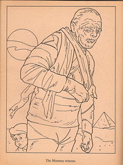 Monsters Coloring Book Mummy Page (1986) (Donald Deveau) Tags: monsters mummy coloringbook universalmonsters