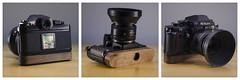 Poigne F3 Protoype 1 (Hubert Vachon) Tags: wood film analog handle design walnut prototype finish f3 poigne beeswax basebois