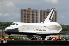 Picture Of The Space Shuttle Enterprise Sitting On A Barge In The Middle Of The Hudson River In New York City Before Being Loaded Onto The Flight Deck Of The USS Intrepid. Photo taken Wednesday June 6, 2012 (ses7) Tags: space shuttle enterprise