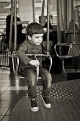Hangin' Around (dleany) Tags: portrait bw ride swing 2470mmf28l 5dmkii