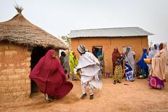 Dancing (Irene Becker) Tags: africa people dance village hijab happiness westafrica nigeria fulani kaduna khimar blackafrica kadunastate arewa northernnigeria fulaniwomen nigerianimages nigerianphotos imagesofnigeria northnigeria hausaland