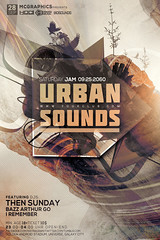 URBAN SOUNDS (movingclays) Tags: party house love halloween colors festival rock dance flyer model artist dj peace graphic nightclub indie speaker electro techno beast hiphop guest breakdance psd drumbass template dubstep