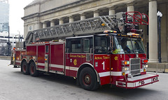 Chicago Fire Department Aerial Tower 1 (in Explore 30 Jan 2015) (MIDEXJET (Thank you for over 2 million views!)) Tags: chicago illinois unitedstatesofamerica firetruck pierce firedepartment cfd chicagofiredepartment fireappratus
