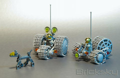 Out on Patrol (Bricksky) Tags: dog lego space sandy starling rover biff trike moc moondust treads bricksky febrovery