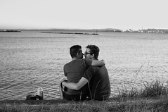2 Young Lovers (Kassick) Tags: gay bw kiss lovers