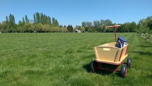 Bollerwagen zum SwinGolf am Selzbogen