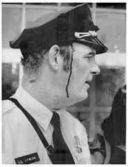 DC police chief Wilson hit by rock: 1972 (washington_area_spark) Tags: against youth club us dc washington war rocks chief rally jerry protest police clash vietnam demonstration capitol antiwar wilson fascism 1972 injured brigade attica yawf