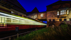 the.train (K.H.Reichert) Tags: berlin station night train deutschland nightshot railway zug bahnhof sbahn bahn beleuchtung schienen geschwindigkeit nachtfoto pankowheinersdorf