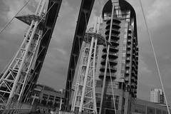 Angles Everywhere (Bluden1) Tags: city docks river manchester media riverside bbc salford quays