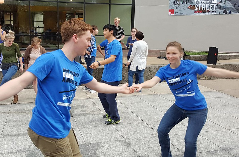 Dancing the Lindy Bomb for Huntington disease
