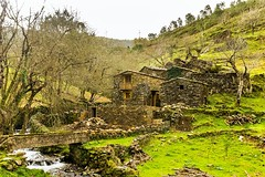 Schist houses near Candal village (Alfredo Mateus Photography) Tags: bridge houses mountain green portugal water stone creek river landscape rocks stones shale lousa schist candal schisthouses schistvillage