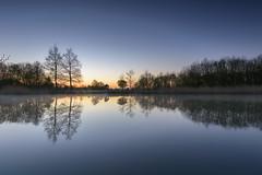 Carlton Park Lake Sunrise (John__Hull) Tags: park uk england mist reflection nature sunrise landscape landscapes nikon carlton view leicestershire breath sigma filter nd taking 1020mm grad narborough d3200