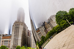 Heavy fog moves into Chicago today (TAC.Photography) Tags: chicago reflection fog foggy cloudgate thebean