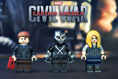 LEGO Captain America : Civil War - Crossbones, Agent 13, & Zemo (MGF Customs/Reviews) Tags: lego captain america civil war avengers iron man team cap winter soldier bucky barnes falcon scarlet witch ant giant black panther machine spider widow vision custom figure minifigure chris evans robert downey jr tom holland scarlett johansson anthony mackie elizabeth olsen paul rudd zemo agent 13 sharon carter crossbones
