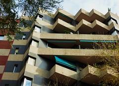 Zig Zags (teaselbrush) Tags: barcelona city urban geometric architecture spain postmodern geometry flats block zigzag modernist