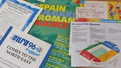 Euro96 Twenty Years On, The Tournament Comes To Newcastle (Jeff Mckever) Tags: france june newcastle tickets football 1996 romania fans 8th programme euro96 euro2016