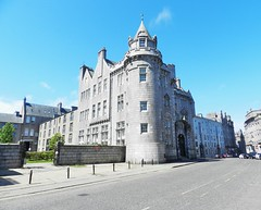The Old General Post Office, Crown Street, Aberdeen, May 2016 (allanmaciver) Tags: street city morning blue sky weather architecture silver private office post general sold north memories saturday style east flats aberdeen crown allanmaciver