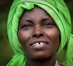 Wolayta Woman, Ethiopia (Rod Waddington) Tags: africa portrait people woman green face female outdoor african traditional culture tribal afrika ethiopia tribe ethnic cultural ethnicity afrique ethiopian thiopien etiopia ethiopie etiopian wolayta wollaita