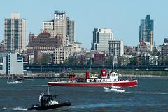 NYC Fireboat #2 (IPlayHockey) Tags: nyc river jerseycity sailing may sail hudsonriver hudson americascup americas mothersday libertystatepark 2016 cupriver