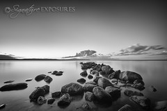 160604222232-8953 (shannbil (Signature Exposures)) Tags: sunset manitoba canada shannonbileski shannbil signatureexposures rocks lake lakewinnipeg beach clouds landscape blackwhite blackandwhite