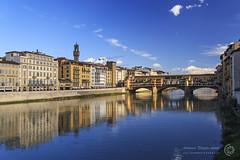 Arno e Ponte Vecchio (filippi antonio) Tags: city bridge blue sky italy architecture reflections river strada italia cityscape arte blu fiume ponte cielo vista firenze arno toscana acqua riflessi architettura pontevecchio citt waterscape allaperto paesaggiourbano sullacqua corsodacqua