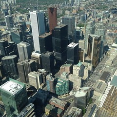 Toronto (WabbitWanderer) Tags: city urban toronto skyline downtown cntower view skyscrapers cbd centralbusinessdistrict