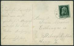 Archiv E643 Frhliche Feiertage, Stempel vom 18. Dezember 1911 (Hans-Michael Tappen) Tags: text 1910s 1911 druck briefmarke poststempel knigreichbayern 1910er archivhansmichaeltappen